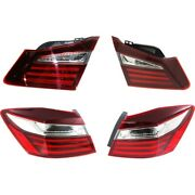 Set Of 4 Tail Lights Lamps Left-and-right Inside Sedan Lh And Rh For Honda Accord