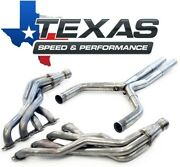 Texas Speed 2016+ Camaro 1-7/8 Stainless Steel Long Tube Headers And O/r X-pipe