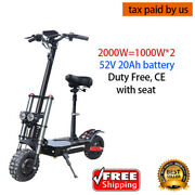 Powerful Electric Scooter 52v 2000w Off Road Fat Tire Dual Motor Wheel