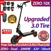 Zero 10x Scooter 10inch Dual Motor Electric Scooter 52v 2000w Off-road