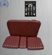Back Seat Emergency Childand039s For Mercedes Sl R/w107 Wine Red + Belts