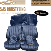 Seat Covers For Mercedes W123 T Model Estate 1/2 Series Blue 250 240 230 200usw