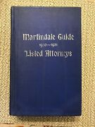 Martindale Guide 1930-1931 Listed Attorneys Rarerest Of List Of Attorneys