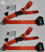 Dreipunkt Automatic Seat Belt Set Rear For Ford Taunus Granada To 81 Red