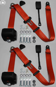 Dreipunkt Automatic Seat Belt For Audi 80 87 100 83 80/100/200 Red