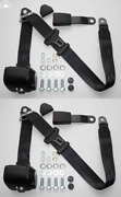 Dreipunkt Automatic Seat Belt For Mercedes W123 Limo-coupe-kombi Black