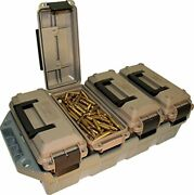 4-can 30 Cal Mtm Ammo Crate Ac4c Storage Box Transport Atv Military Style Chest