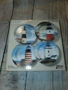 David Carter Brown Collection Lighthouse By The Sea Salad Dessert Plates New 4