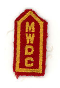 Ww2 Wwii Us Home Front Massachusetts Womens Defense Corps Collar Tab Mwdc