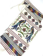 """Vintage Mexican Textiles Embroidered Table Runner 60x16"""" Bright Colors /birds"""