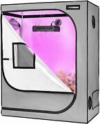 Vivosun Grow Tent 48x24x60mylar Hydroponic For Plants 4and039x2and039 With Floor Tray