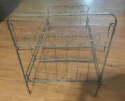 Antique High Back Metal Doll Bed For Composition And Bisque German French Dolls