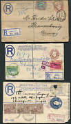 Jamaica 23283 Five Registered Letters Jamaica And Trinidad And Gb To Germany