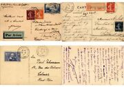 France Postal History 1200 Covers Cpa Mostly 1900-1940 Period In Box L2677