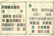 Caribbean Stamp Collection 1855-1898 On 5 Scott Specialty Pages Spanish Jfz