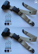 Dreipunkt Autom Seat Belt Rear For Lancia 2000 Coupe Gamma Coupe Beige