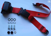 Dreipunkt Automatic Seat Belt Rear For Lancia 2000 Coupe Gamma Coupe Red