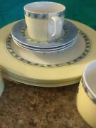 Set Of 3 Royal Doulton Carmina Dinner Plates And 3 Cups And Saucers
