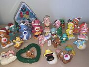 Lot Of Care Bear Christmas Ornaments Tender Heart Funshine Grumpy And More