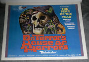 Dr. Terrorand039s House Of Horrors Orig 22x28 Poster Christopher Lee/peter Cushing