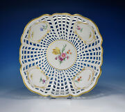 Kpm Flowers And Insects Decor 36 Big Openwork Basket 10 3/16x10 3/16in