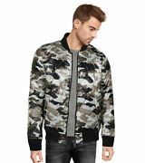9 Crowns Menand039s Camoflage Bomber Military Flight Field Camo Quilted Jacket