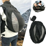 Foldable Motorcycle Helmet Bag Large Capacity Backpack Fit For Outdoor Cycling