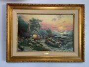 Thomas Kinkade Cottage-by-the-sea With Antique Gold Frame No. 34/200 A/pandnbsp