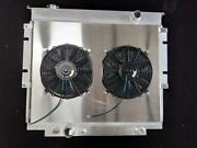 For Ford F Series Pickup 83-94 F250 350 Diesel Aluminum Radiator And Fan Shroud
