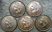 1897 1898 1902 1906 1907 Indian Cent Penny --- Stunning Lot --- D428
