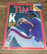 Time Magazine April 7 1986 Doctor K Dwight Gooden Of The Mets