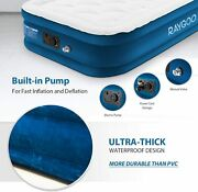 Quilt Top Raised Inflatable Air Mattress Airbed With Built-in Electric Pump 20h