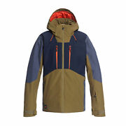 Quiksilver Mission Plus Mens Jacket Snowboard - Military Olive All Sizes