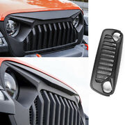 Fit For 2018-2020 Jeep Wrangler Jl Abs Black Front Grille Grill Cover Trim 1pcs