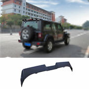 For 2007-2019 2020 Jeep Wrangler Black Roof Boot Spoiler Wing Flap With Lights