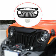 For Jeep Wrangler Jl 2018-2020 Black Exterior Front Grille Grill Cover Trim 2pcs