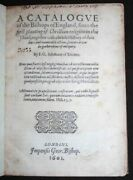 1601 Catalogue Of Bishops Of England Godwin Rare Black Letter First Edition Rare