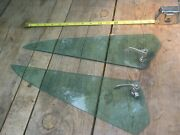 Vintage Wind Wings Hot Rod Barn Find Rat Rod Green Tint Tempered