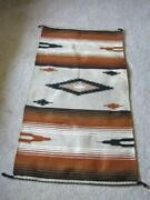 Vintage Collectible Hand-woven Native American Rug, 57 1/2 X 30 1/2 Excellent