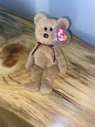 Ty Beanie Babies Curly The Bear Plush - 4052 - Mint Condition - Tag Errors