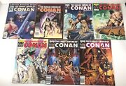 The Savage Sword Of Conan The Barbarian Marvel Magazine Lot Of 7 Spans 62-114