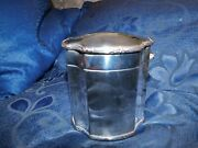 Elegant Shape Antique Silver Plated Tea Caddy Box Hinged Lid Detailed Rims 4
