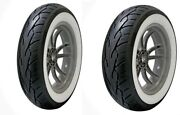 Vee Rubber White Wall Front/rear Tire Set Mt90b16 Harley Electra Glide Road King