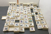 Norman Rockwell Four Seasons Miniature Collection 68 Plates Complete Set Mib