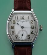 Antique Elgin Large Wrist Watch Double Dial Made In 1903