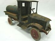 Antique 1920andrsquos Buddy L Tank Line Tanker Truck- Barn Found All Original Parts