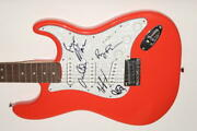 Band Of Horses Full Band X5 Signed Autograph Fender Brand Electric Guitar Jsa
