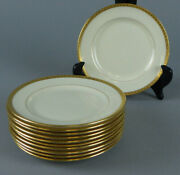 12 Lenox Gold Encrusted Border 5 7/8 Bread And Butter Plates S8 Green Mark 5/s.8