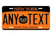 Happy Halloween New York State License Plate Design For Auto Atv Bike Moped