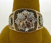 10kt Yellow Gold Knights Of Columbus Ring Size 11 1/2